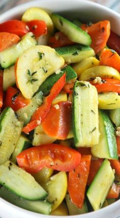 sauteed vegetables with herbs and garlic
