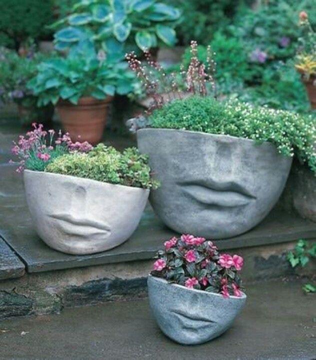 193 best ideas about cement art on pinterest gardens for Garden pots portland