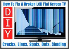 16 best repair tv monitor diy images on pinterest display how to fix a broken flat screen lcd led plasma tv fandeluxe Images