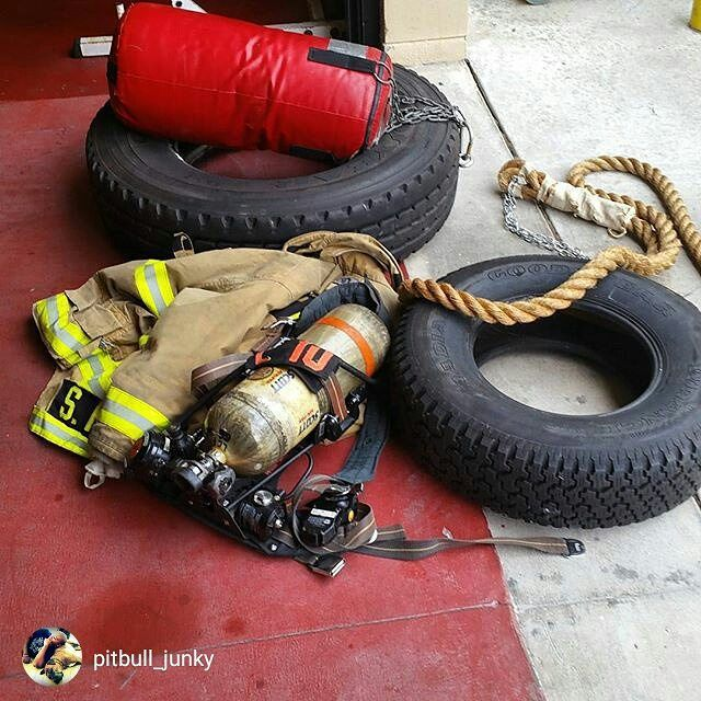 #Repost @pitbull_junky Drag day. Weighted rope & tire hose drag and heavy bag & large tire victim drag simulation workout today. #bunkergearonlyworkouts  555 Fitness is a Firefighter driven and operated non-profit organization. Our goal is to reduce the leading killer of firefighters cardiac related events. We do this by providing free workouts nutritional advice and fitness equipment to firefighters in need. This is made possible through our partners private donations and the sale of our…