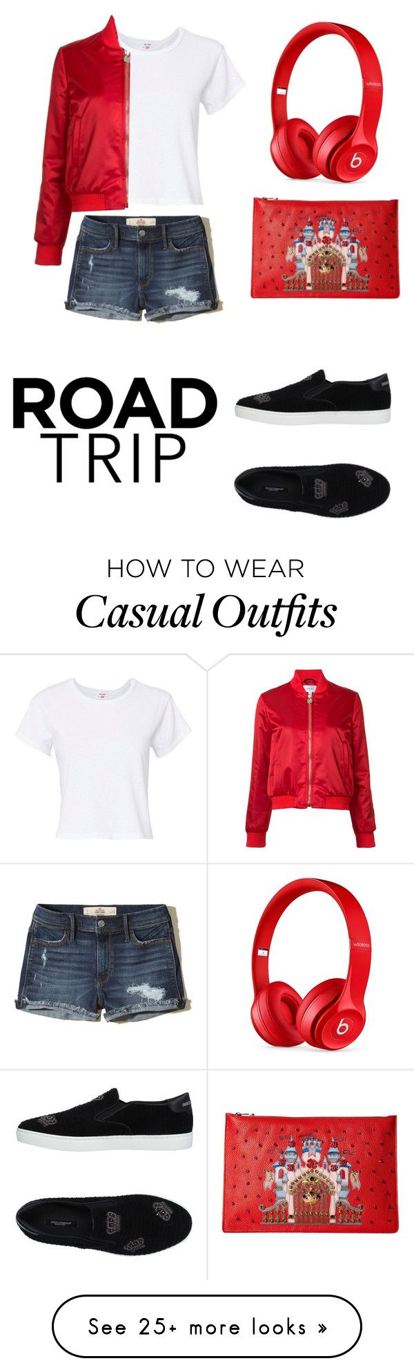 """""""Casual look"""" by fionaheda05 on Polyvore featuring Hollister Co., RE/DONE, Carven, Dolce&Gabbana and Beats by Dr. Dre"""