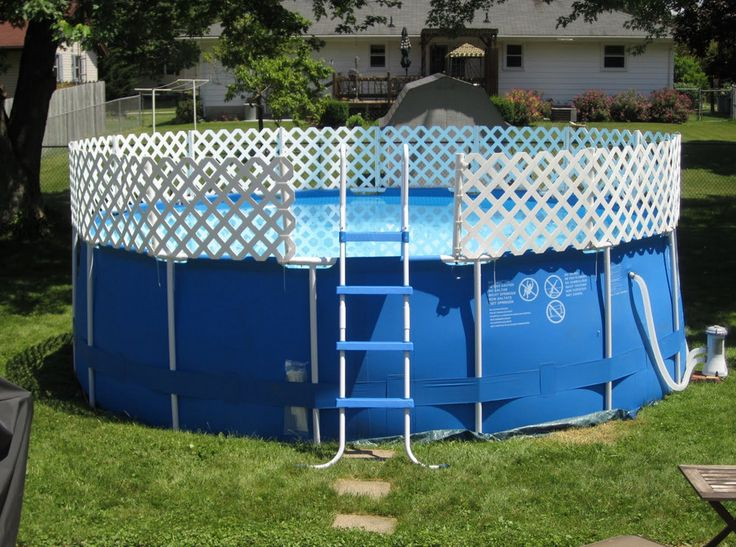 Best 25 above ground pool slide ideas on pinterest diy for Portable above ground swimming pools