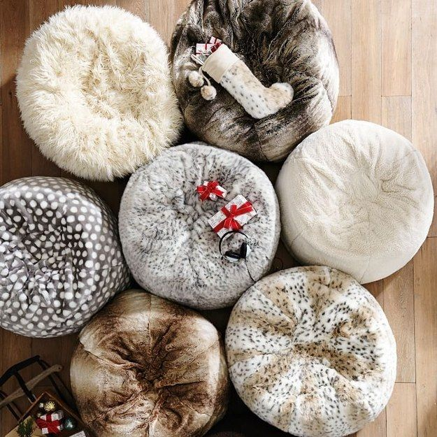 This furlicious bean bag. | 31 Fluffy Things That'll Restore Your Faith In Winter
