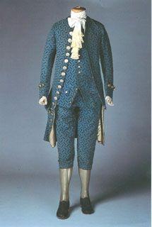 Completo Maschile Francia 1770 C Culottes Gilet