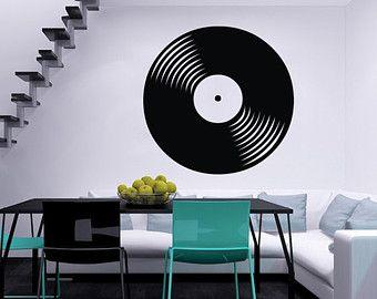 Vinyl Record Music Musical Housewares Wall Vinyl Decal Sticker Art Design Stylish Interior Decor Bedroom Recording Studio SV4100