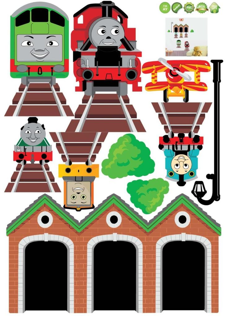 Red Train Wall Stickers. 1 Set DIY High Quality Thomas The Tank  Part 93