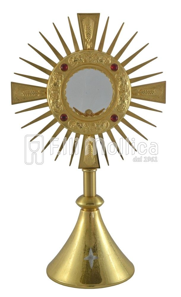 Monstrance with Red Stones, Ears, Grape foot milled