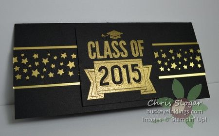 Money Holder for the Grad - made with the envelope punch board and Class of 2015 single stamp from Stampin' Up!