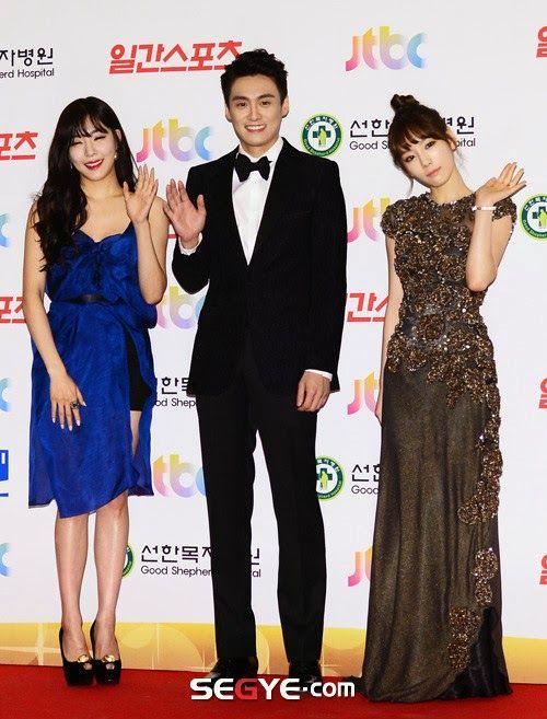 [140116] Taeyeon & Tiffany MC at Golden Disk Awards