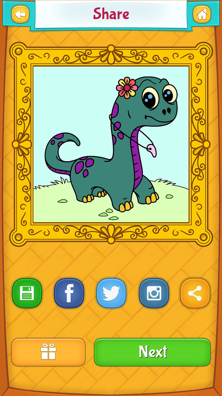 Dinosaurs coloring games online - Dinosaur Coloring Pages For Kids Android Iphone Ipad App