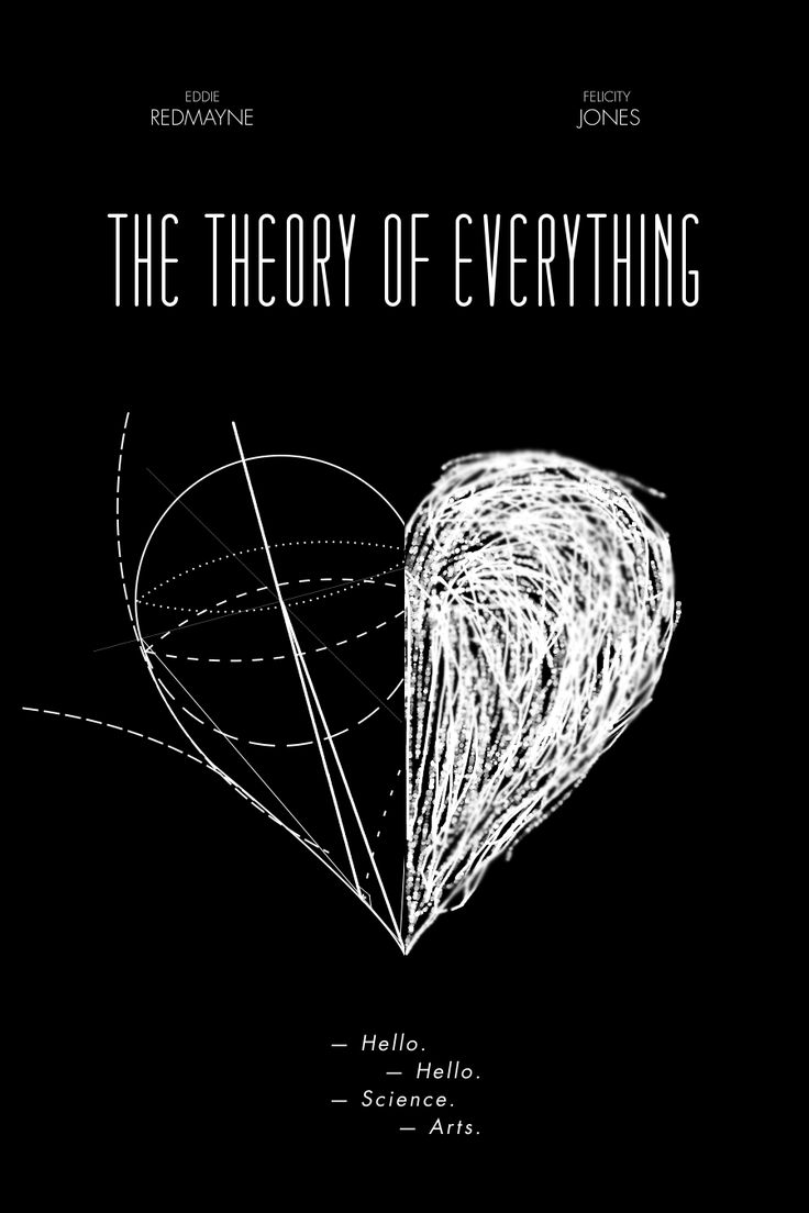 The Theory of Everything <3 (movie poster by Authorial Minimalist Posters)