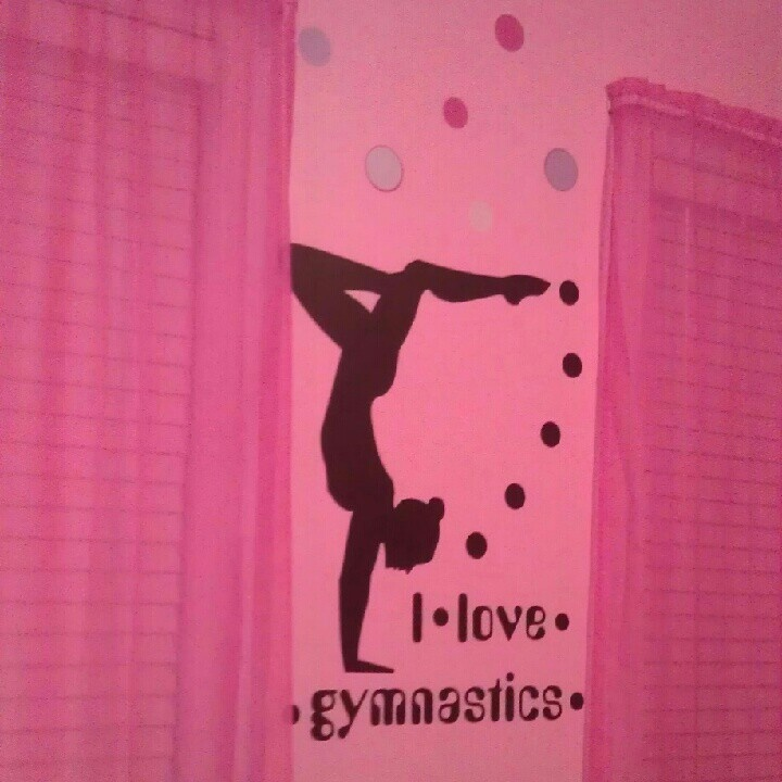 A Gymnast room I would've LOVED this room!!!