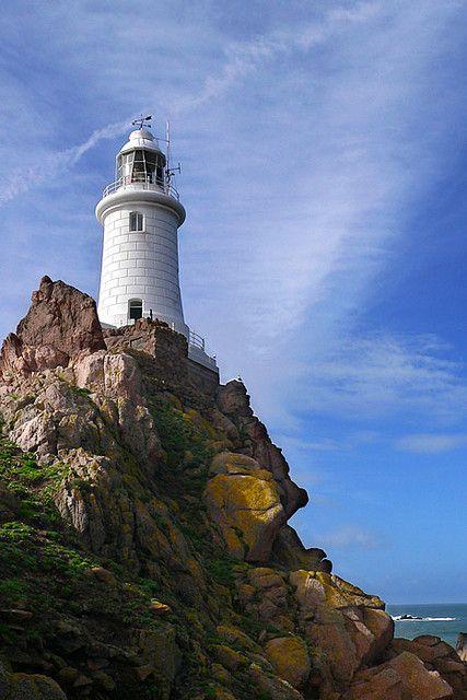 La Corbiere Lighthouse Jersey, Channel Islands, Great Britain