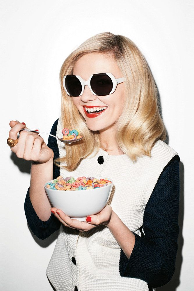 Chanel Jacket + Marni sunglasses + Fruit Loops = Delish