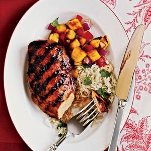Take a mental vaction to Hawaii as you enjoy this grilled chicken marinated in a mixture of pineapple juice, ketchup, soy sauce and ginger.