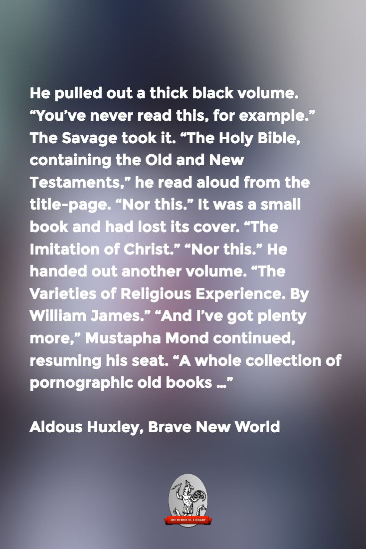 "brave new world book report The feelies, as readers of aldous huxley's ""brave new world"" will  he is the  author of two collections of poetry and several other books,."