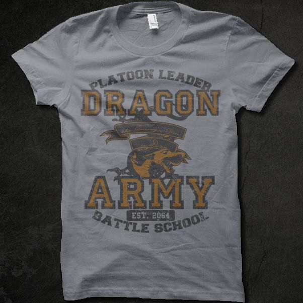 ENDER'S GAME Dragon Army shirt currently in the fog on shirt.woot