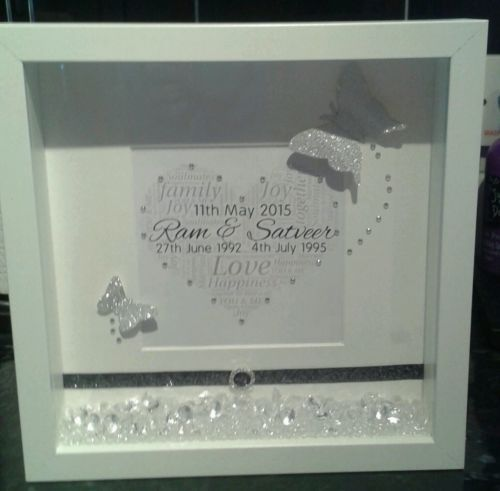 Personalised #engagement gift in a 3d box frame with #crystal #sparkles & diaman, View more on the LINK: http://www.zeppy.io/product/gb/2/111892944600/