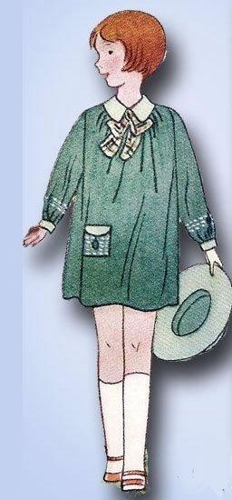 1920s Original Adorable Unused Little Girls Bloomer Frock Pattern | eBay