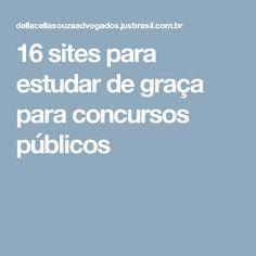 16 sites para estudar de graça para concursos públicos