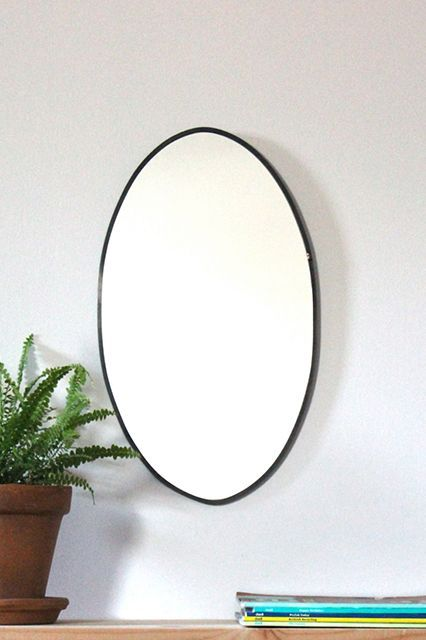 Mirror, mirror on the wall. Fluxglass Oval Mirror, $66, available at Etsy. #refinery29 http://www.refinery29.com/best-etsy-products#slide-4