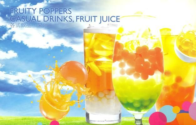 FRUITY POPPERS ideal para ... zumos de frutas.