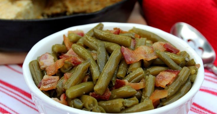 Quick Fix Southern Style Green Beans with Bacon and Onion from Deep ...