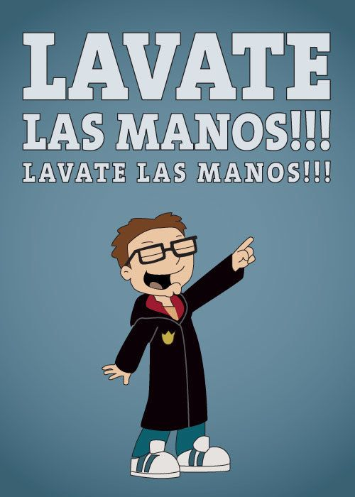 Steve Smith from American Dad Graphic illustration Lavate Las Manos Twin Tipped Designs