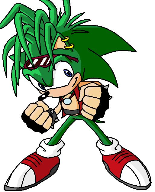 Manic the hedgehog in sonic x