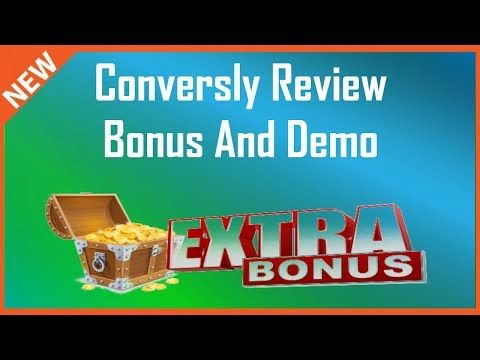 Conversly Review   Conversly Bonus And Demo - YouTube