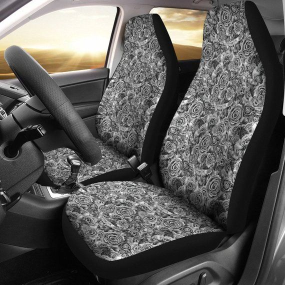 Universal Car Seat Cover Polyester Black Pink for SUV Sedan VAN for Girls Women