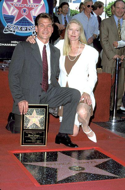 Patrick Swayze with Lisa Niemi on August 18, 1997