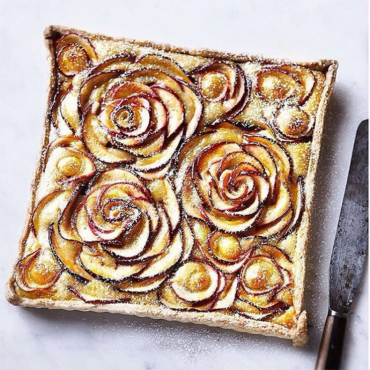 """""""Be the  of your mum's eye with our beautiful apple rose tart - serve for dessert this Sunday and you're sure to be her favourite. Recipe in the new issue…"""""""