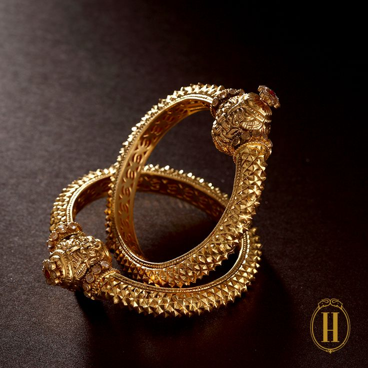 Beautiful gold bangles, classic and traditional by Hazoorilal Legacy. Shop for the most important person in your life - your mother with us. Bridelan - a personal wedding shopper & stylist for weddings. Website www.bridelan.com #Bridelan