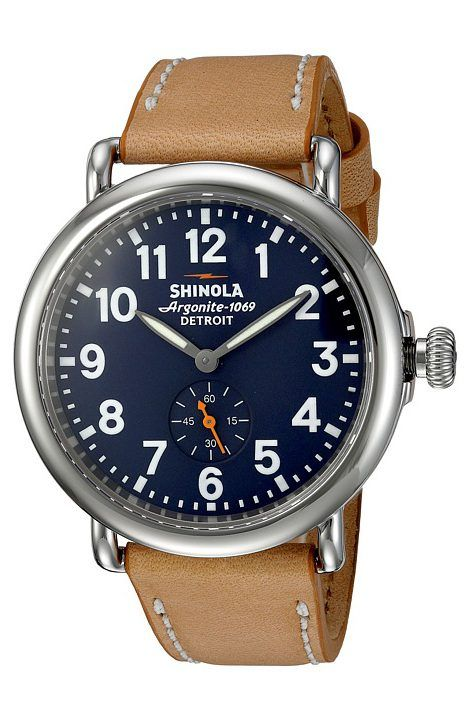 Shinola Detroit The Runwell 41mm 10000144 (Midnight Blue/Natural) Watches - Shinola Detroit, The Runwell 41mm 10000144, S0110000144, Jewelry Watches General, Watches, Watches, Jewelry, Gift - Outfit Ideas And Street Style 2017