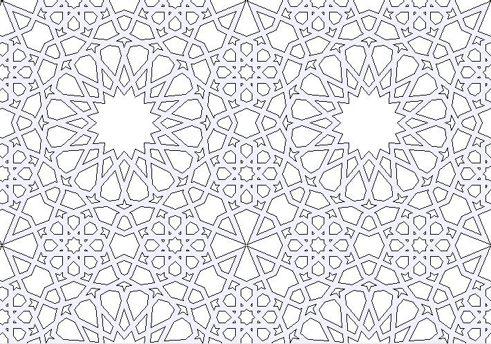 THIS IS THE ONE. puter generated islamic geometric art stars in symmetry