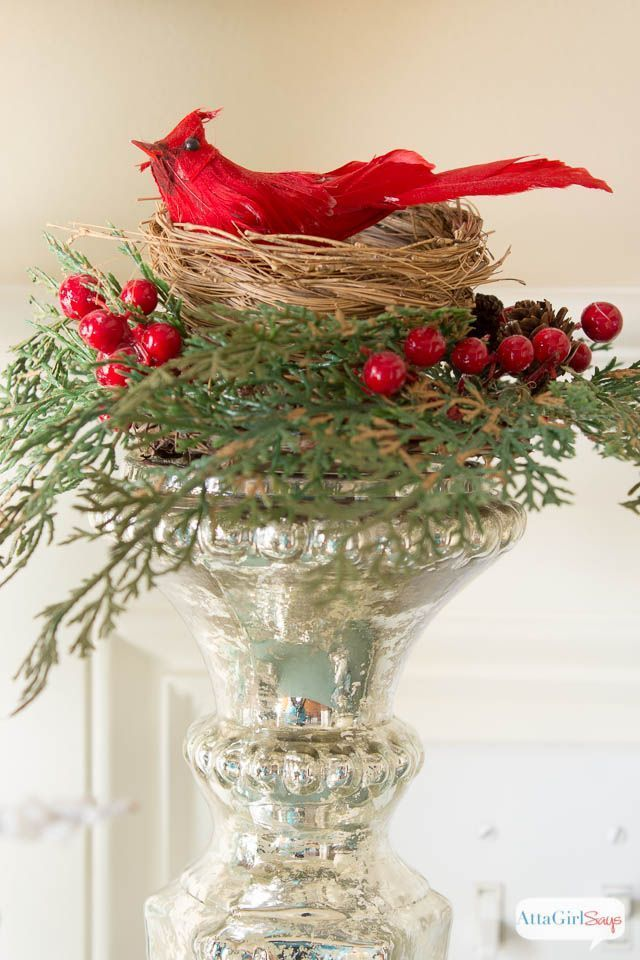 Birds in Winter: Foyer Decorating Ideas
