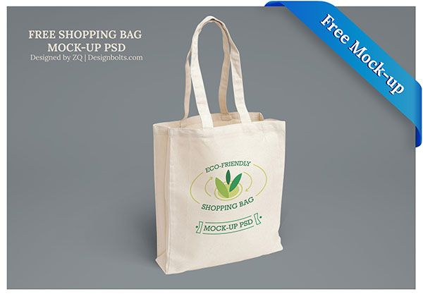 Free Eco-Friendly Shopping Bag Mock-up PSD Files