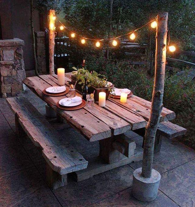 Aquela Iluminação Que Cria Um Charme Todo Especial Boa Noite Ideiasdiferentes Referencia Backyard Decor Outdoor Decor Outdoor Living Rooms