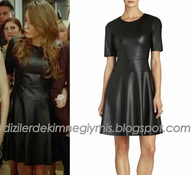 Medcezir - Mira (Serenay Sarıkaya), BCBG Leather Dress