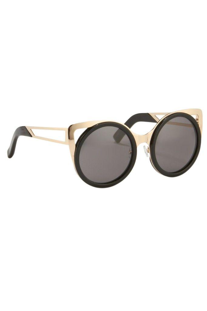 Linda Farrow Woman Cat-eye Silver-tone And Acetate Mirrored Sunglasses Gold Size Linda Farrow CYwW6lb