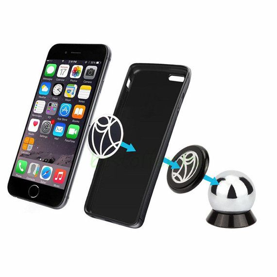 Universal 360 degree rotating magnetic Car Holder Mount dash iPhone GPS Samsung  #BlackMagnetic #MagneticphoneHolder #PhoneAccessorie #SteelCarMount #360DegreeRotating