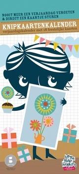 Verjaardags kalender met 18 wenskaarten Gezinnig