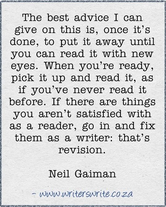 advice from Neil Gaiman