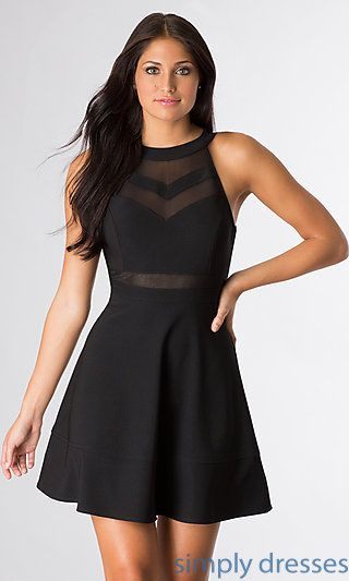 Black High Neck Dress Outfit