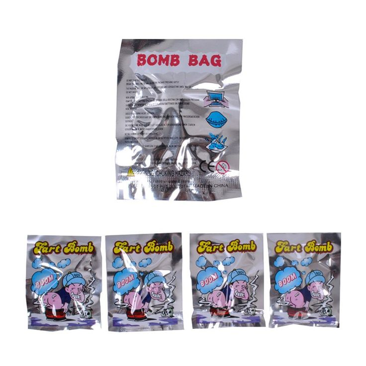 10 Pcs Novelty Fart Bomb Bags Stink Bomb Smelly Funny Bags Party Weird Stuff Gag