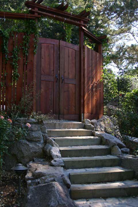 Redwood Gate Designs To Trellised Redwood Gate