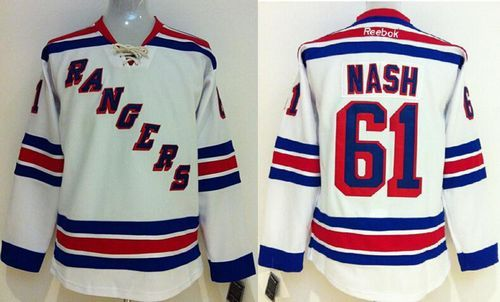 Rangers #61 Rick Nash White Stitched Youth NHL Jersey Wholesale Cheap Custom Algeria Practice Soccer Jerseys For Sale