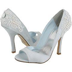 Light blue wedding shoes for something blue