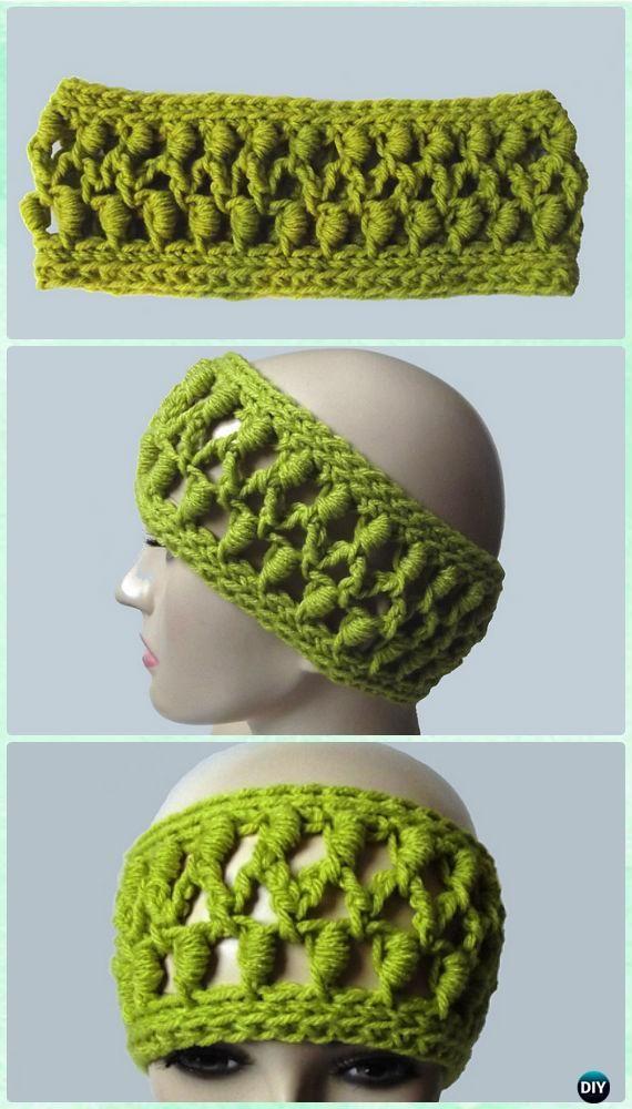 Crochet Bullion Stitch Headband Pattern - #Crochet; Bullion Stitch Free Patterns